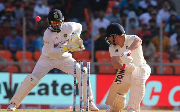 Behind you: England's Jonny Bairstow turns around to see he has been bowled during yesterday's defeat to India