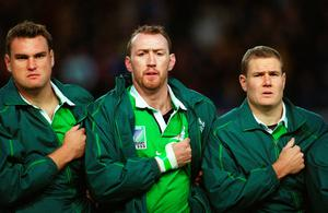 With Jeremy Davidson and Trevor Brennan at 1999 World Cup