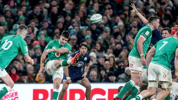 Not again: Conor Murray and Ireland have been deploying the box-kick