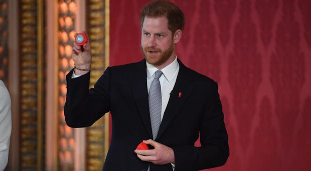 The Duke of Sussex helped conduct the draw (Jeremy Selwyn/Evening Standard/PA)