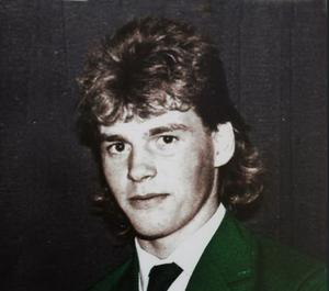 Darren Clarke  1985 in his Junior Ireland Blazer