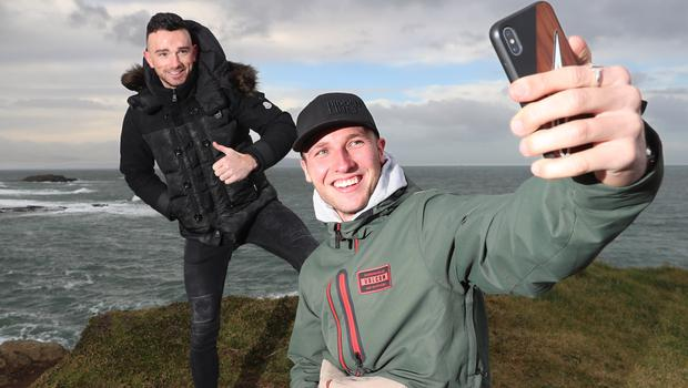 In frame: Honda duo Glenn Irwin and Davey Todd enjoy their visit to the north coast