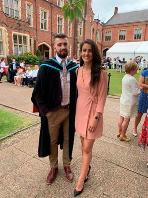 Ideal match: James McMahon and Joanne Doonan step out in style