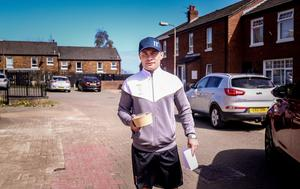 Knock knock: Carl Frampton out in Tigers Bay