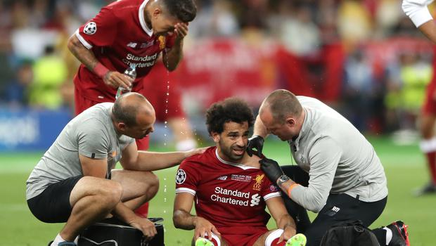 Despite treatment Salah was forced out of the game