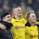Erling Haaland scored two more goals for Borussia Dortmund (Martin Meissner/AP)