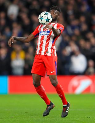 Atletico Madrid's Thomas Partey has reportedly caught the eye of Arsenal boss Mikel Arteta (Adam Davy/PA)