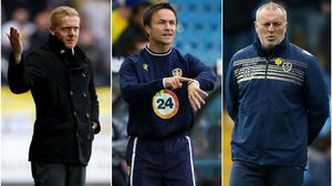 Garry Monk, Dennis Wise and Neil Redfearn all tried to guide Leeds back to the Premier League (Richard Sellers/PA)
