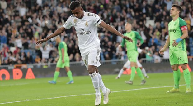 Rodrygo gave Los Blancos an early lead (Bernat Armangue/AP)