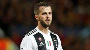 Miralem Pjanic will remain with Juventus until the end of the season (Martin Rickett/PA)
