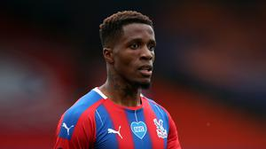 Wilfried Zaha posted images showing he had been the victim of online racial abuse (Peter Cziborra/NMC Pool)