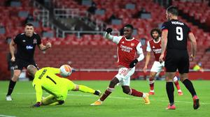 Arsenal beat Dundalk 3-0 at the Emirates Stadium in their first Europa League meeting in October (Adam Davy/PA)