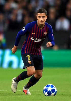 Philippe Coutinho was heavily involved in the first half (Mike Egerton/PA)