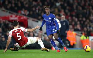 Callum Hudson-Odoi was given just 10 minutes to make an impression in Chelsea's loss at Arsenal (Nick Potts/PA)