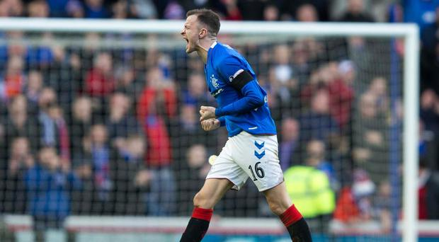 Rangers fan Andy Halliday was elated with his side's win over Celtic (Jeff Holmes/PA)