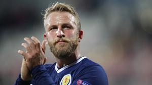 Johnny Russell had hoped to be in action for Scotland on Thursday (Adam Davy/PA)