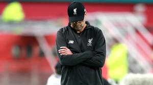 Jurgen Klopp saw his Liverpool side lose for the first time in the Premier League this season as they were beaten at Watford (Adam Davy/PA)