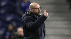 Peter Bosz's Bayer Leverkusen head to Glasgow this week (Luis Vieira/AP)