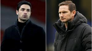 Arsenal boss Mikel Arteta wants Chelsea to give more time to his west London counterpart Frank Lampard (Adam Davy/PA/John Walton/PA)