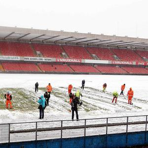 Snow ended Northern Ireland's hopes of playing Russia at the weekend