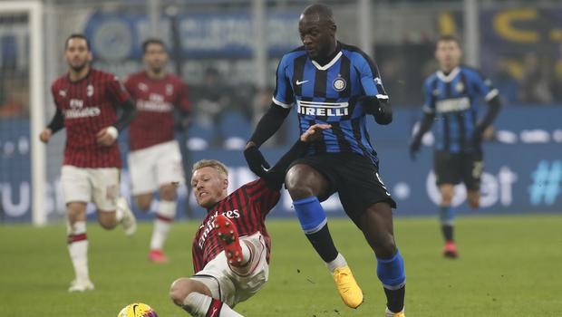 Romelu Lukaku was on target as Inter Milan won the Derby della Madonnina (Antonio Calanni/AP)