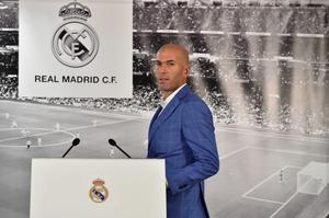 In charge: Zinedine Zidane has been announced as manager at Real Madrid