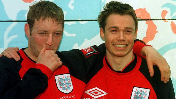 Blackburn and England team-mates David Batty (left) and Graeme Le Saux (Adam Butler/PA)
