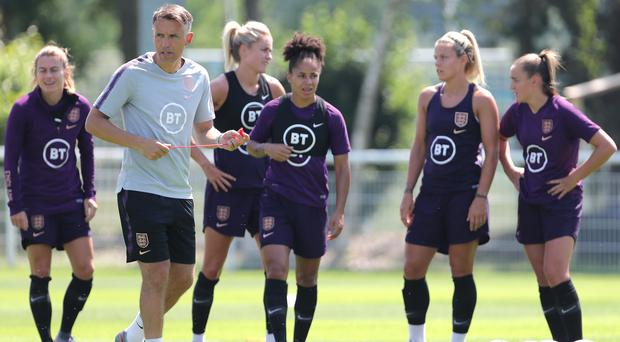 Phil Neville's England team are gearing up for their clash with the United States (Richard Sellers/PA).