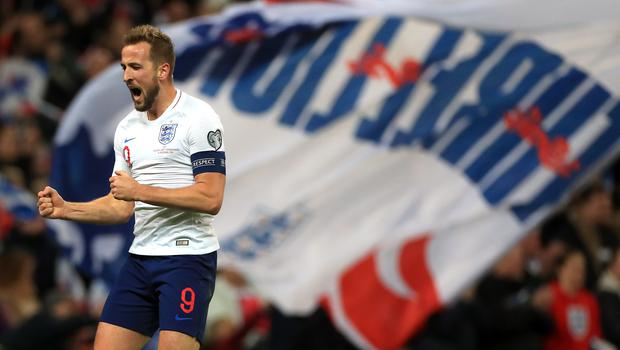 Harry Kane moved up the list of all-time England goalscorers (Mike Egerton/PA)