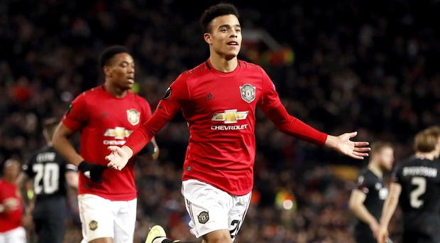 Mason Greenwood has made an impressive start to life in the Manchester United first team (Martin Rickett/PA)