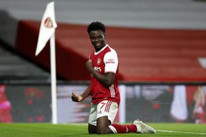 Bukayo Saka is one of Arsenal's young players who has been performing well of late. (Andrew Boyers/PA)