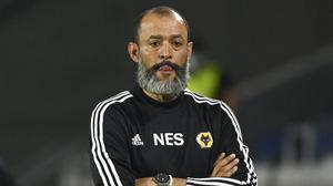 Nuno Espirito Santo refused to criticise his players after their Europa League exit (Ina Fassbender/Pool/AP)