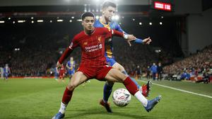 Shrewsbury were beaten by a youthful Liverpool side in an FA Cup replay at the start of February (Martin Rickett/PA)