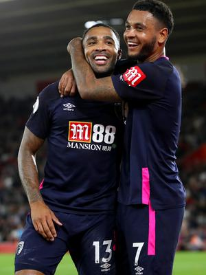 At least Joshua King was able to celebrate Callum Wilson's goal in the win over Southampton (Andrew Matthews/PA)