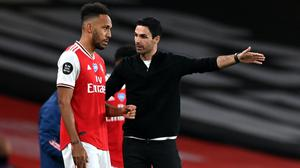 Mikel Arteta (right) is optimistic Pierre-Emerick Aubameyang will sign a new deal (Shaun Botterill/NMC Pool/PA)