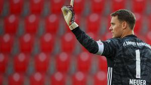 Manuel Neuer was happy to restart with a win on a strange day (Hannibal Hanschke/POOL)