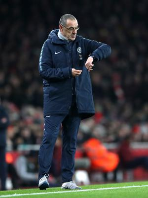 Maurizio Sarri will demand a reaction from his Chelsea players after his criticism following the loss at Arsenal (Nick Potts/PA)