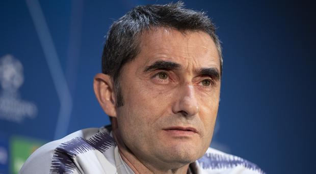 Barcelona manager Ernesto Valverde said he did not know when Lionel Messi will return (Ian Hodgson/PA)