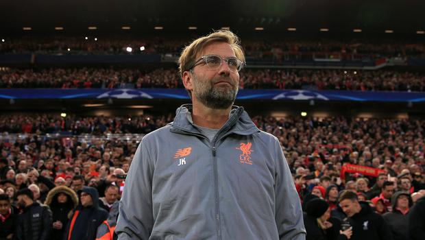 Jurgen Klopp's side face Europe's most decorated club (Peter Byrne/PA)