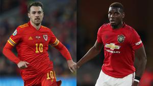 Welsh star Aaron Ramsey (left) and Paul Pogba could be the subjects of a swap between Juventus and Manchester United (Nick Potts/Nick Potts/PA)