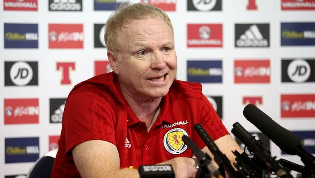 Scotland players will need a strong mentality against Peru, says manager Alex McLeish (Jane Barlow/PA)