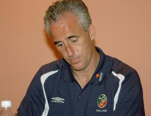 Republic of Ireland manager Mick McCarthy at a press conference at the Hyatt Hotel in Saipan (Kirsty Wigglesworth/PA)