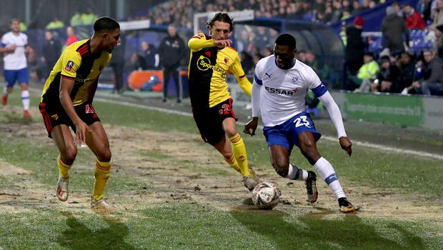 Tranmere beat Watford on Thursday to set up an FA Cup fourth-round tie with Manchester United (Richard Sellers/PA)