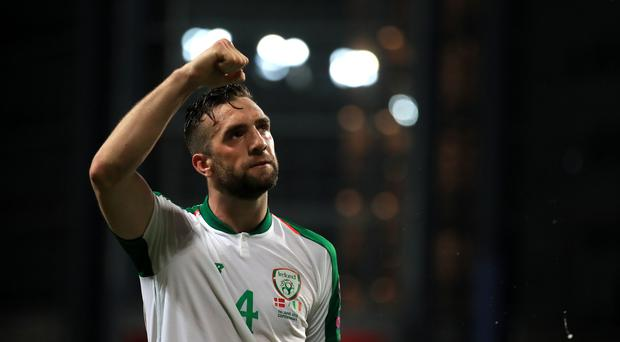 Shane Duffy could miss the Republic of Ireland's Euro 2020 double-header against Georgia and Switzerland (Bradley Collyer/PA)