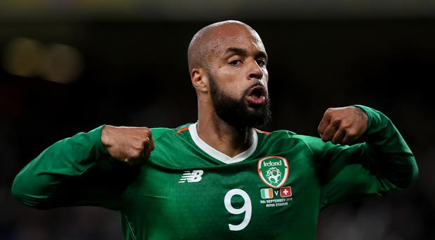 David McGoldrick's fist international goal secured a 1-1 Euro 2020 qualifier draw with Switzerland (Brian Lawless/PA)