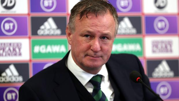 Michael O'Neill says Northern Ireland are in a good place despite missing out on automatic qualification for Euro 2020 (Liam McBurney/PA)