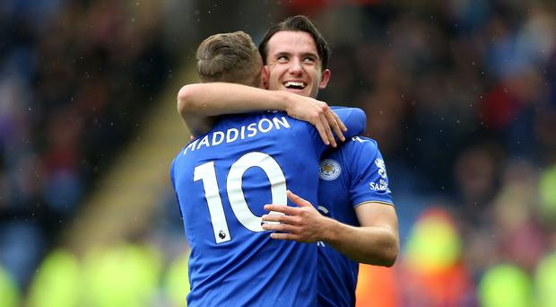 Ben Chilwell (right) believes Leicester colleague James Maddison can be a hit for England. (Nigel French/PA)