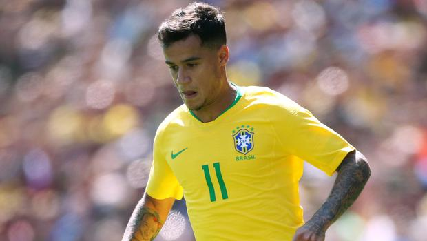 Philippe Coutinho was on target for Brazil (Nick Potts/PA)