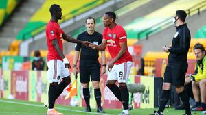 Eric Bailly is replaced by Anthony Martial in Manchester United's FA Cup match at Norwich (Catherine Ivill/NMC Pool/PA)