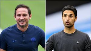 Frank Lampard and Mikel Arteta have an FA Cup final to look forward to (PA)
